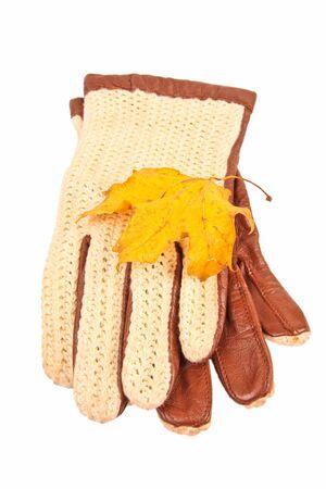 Handschuhe. Close up auf weißem Hintergrund Standard-Bild - 10925861