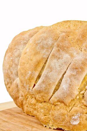 Frisch gebackenes hausgemachtes Brot. Close up auf weißem Hintergrund Standard-Bild - 10925879