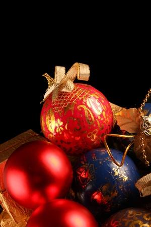 Weihnachtsdekoration. Close up auf dunklem Hintergrund schwarz Standard-Bild - 11310111