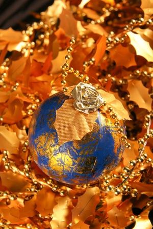 Weihnachtsdekoration. Close up auf schwarzem dunklen Hintergrund Standard-Bild - 11310122