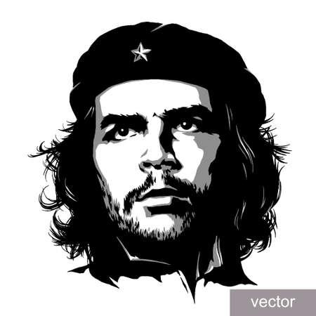 che guevara: 22 June 1956: illustration of Comandante Ernesto Che Guevara portrait. Engraving sketch