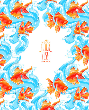 Goldfish illustration artwork  line underwater color wildlife