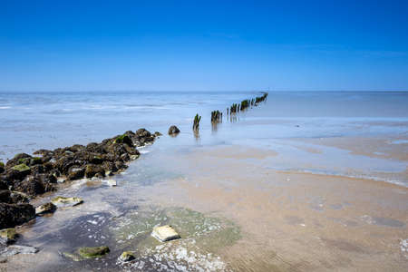 the wadden sea: Wadden Sea Wooden Breakwater