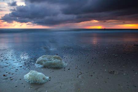 exposicion: Beautiful long exposure sunset
