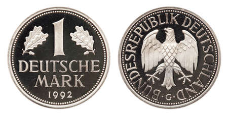 Federal Republic of Germany coin 1 mark 1992 Standard-Bild - 119659902