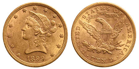 United States gold coin 10 dollars gold liberty 1899