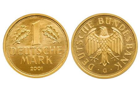 Federal Republic of Germany 1 Mark 2001 Gold coin Standard-Bild - 119659918