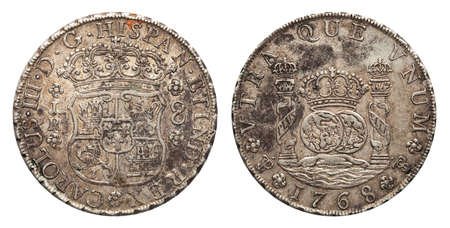 Mexico silver coin 8 real 1768 Stock fotó - 120358105