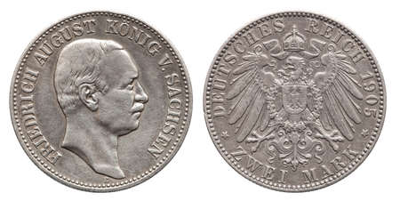 Germany German Saxonia silver coin 2 two mark 1905