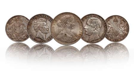 Germany german silver coins two thaler double thaler Hannover, Frankfurt, Brunswick Lueneburg