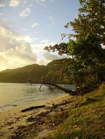 French Polynesia at sunset Archivio Fotografico