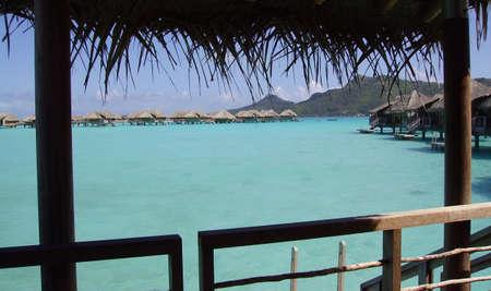 Luxury resort in Bora Bora Archivio Fotografico