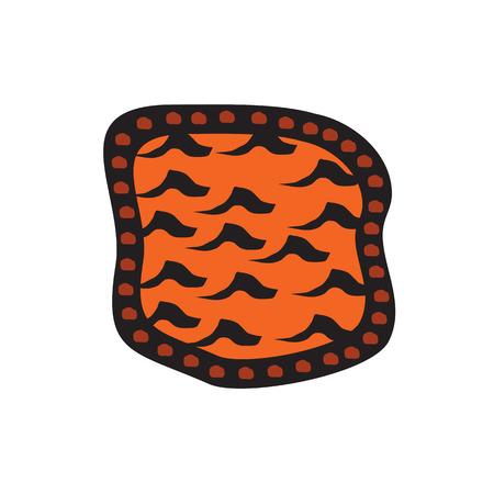 Aboriginal art logo design vector template