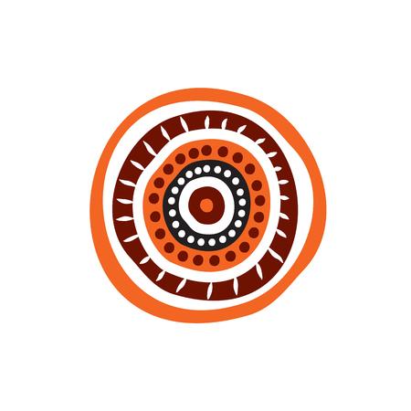 Plantilla de vector de diseño de logotipo de arte aborigen