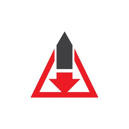 Arrow icon logo design Vectores