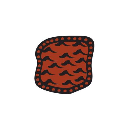 Aboriginal art vector template