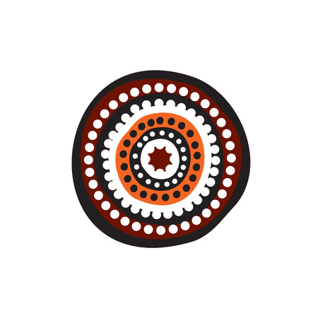 Aboriginal art vector template