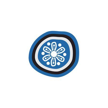 Aboriginal art icon design vector template Vector Illustration