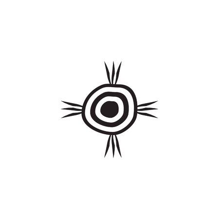 Aboriginal art icon design vector template 写真素材 - 124862125