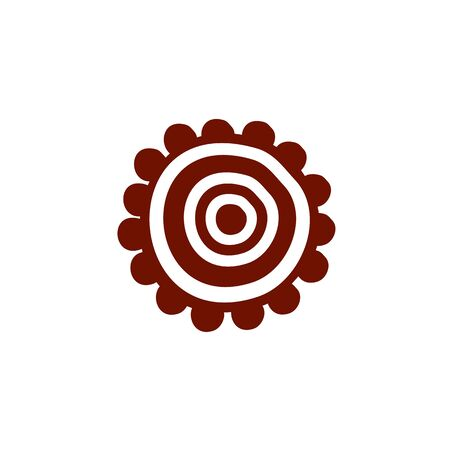 Aboriginal art icon design vector template 写真素材 - 124862112