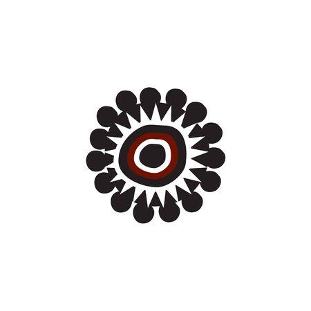 Aboriginal art icon design vector template 写真素材 - 124862210
