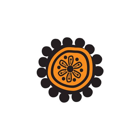 Aboriginal art icon design vector template 写真素材 - 124862212