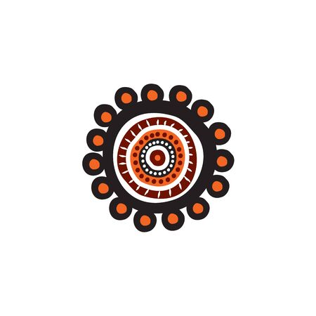 Plantilla de vector de diseño de icono de arte aborigen Ilustración de vector