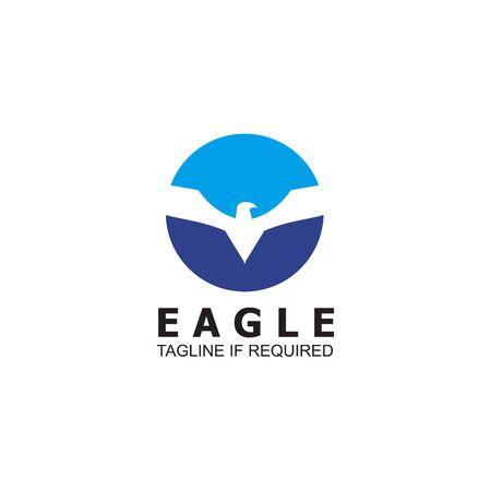 Eagle bird logo icon design vector template
