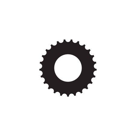 Création de logo d'entreprise industrielle à l'aide d'un modèle vectoriel d'icône d'engrenage Logo