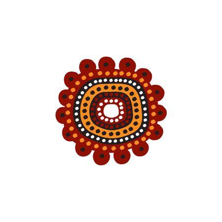 Modello di vettore di disegno dell'icona di arte aborigena