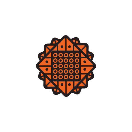 Aboriginal art icon design vector template