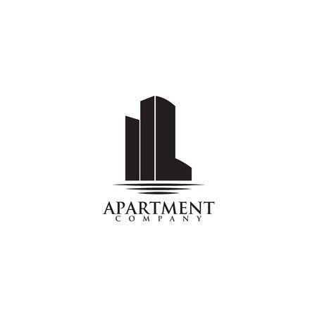 Apartment logo icon design vector template