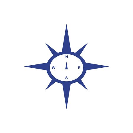 Compass logo icon design vector template