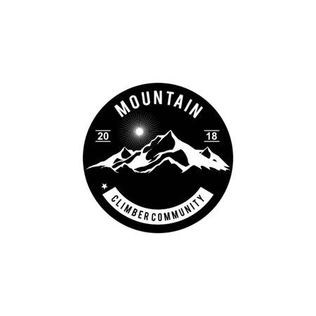 Mountain logo design inspiration vector template Ilustrace