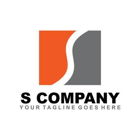 S letter initial logo design template