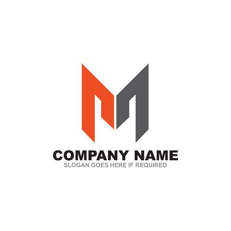 M letter initial logo design inspiration vector template Logo