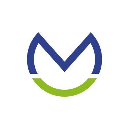 M letter initial logo design inspiration vector template Illustration