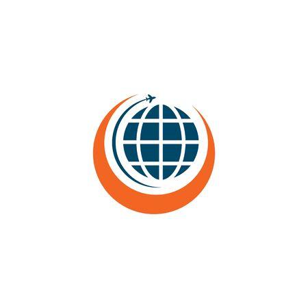Travel company logo design vector template
