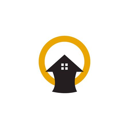 Home logo design inspiration vector icon template Иллюстрация