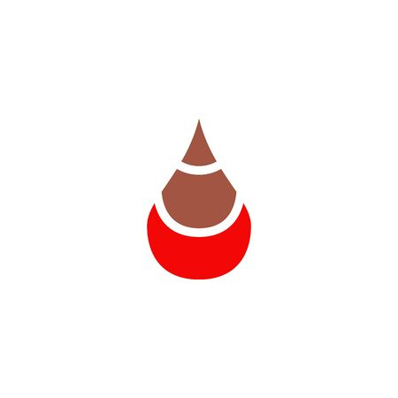 Blood icon vector template Illustration