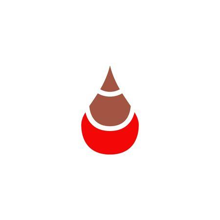 Blood icon vector template Vectores