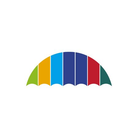 Umbrella design inspiration vector icon