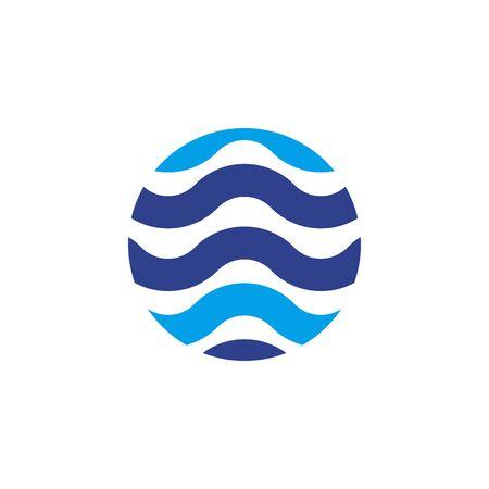Wave icon design inspiration vector template Illustration