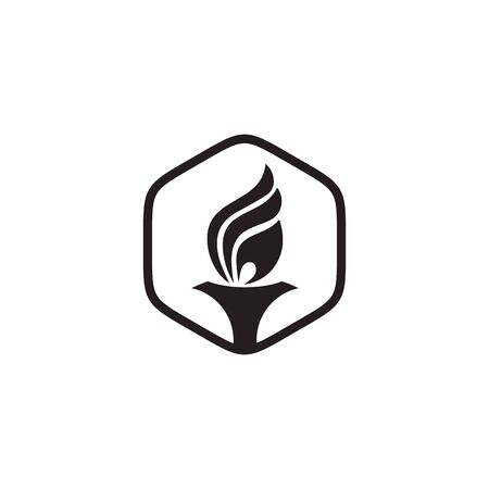 Torch design inspiration vector icon template
