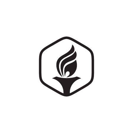 Torch design inspiration vector icon template