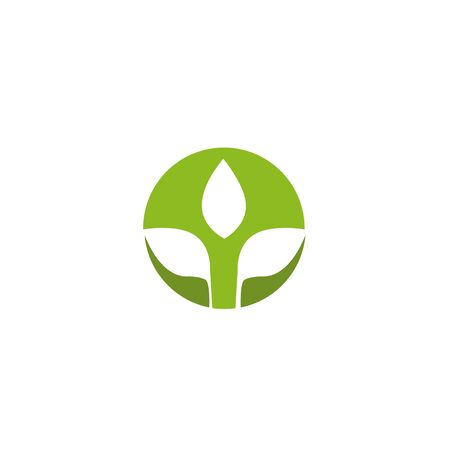 Leaf icon design inspiration vector template
