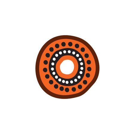 Plantilla de diseño de pintura de puntos de arte aborigen