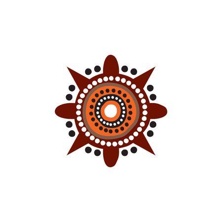 Aboriginal art dots painting design template Иллюстрация