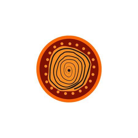 Aboriginal art dots painting design template Vector Illustration
