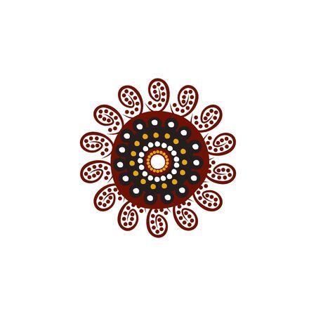 Aboriginal art dots painting  design template